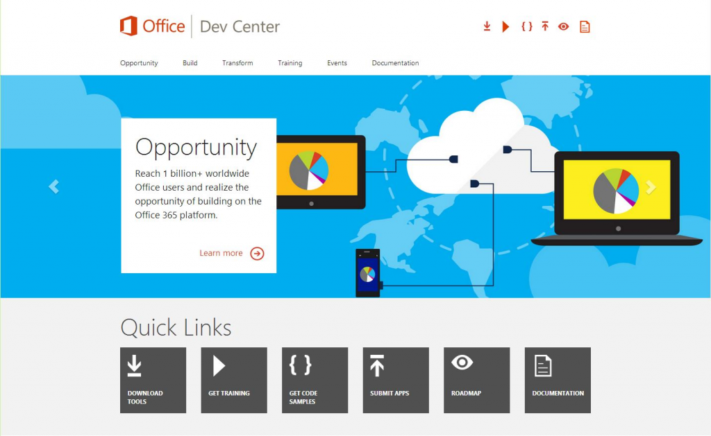 Office Dev Center Home Page
